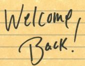 MarCom Mumblings: Welcome back!